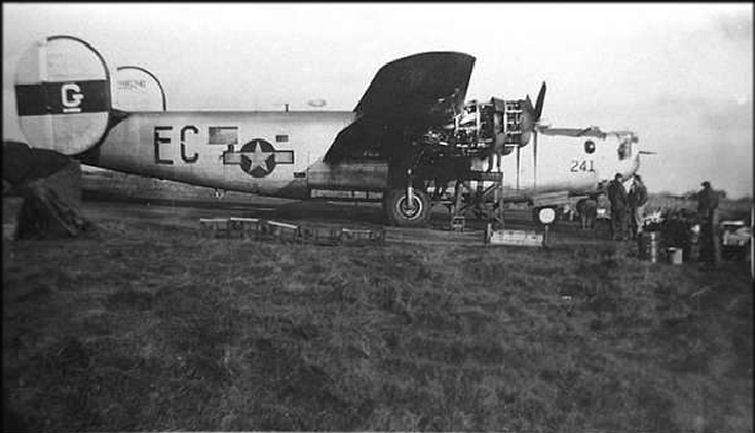 het vliegtuig de jolly duck in 1944