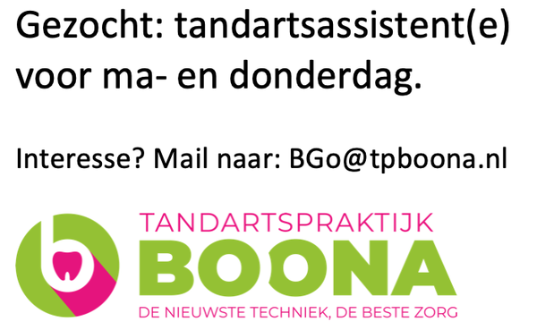 vacature tandartsassistent Praktijk Boona